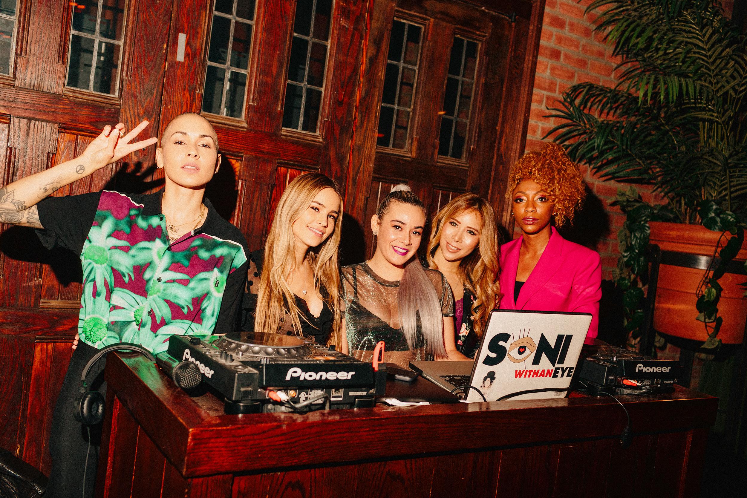 Nicole Albino, Layla Benitez, SONI withanEYE, DJ Sophia Lin, & DJ C. DeVone