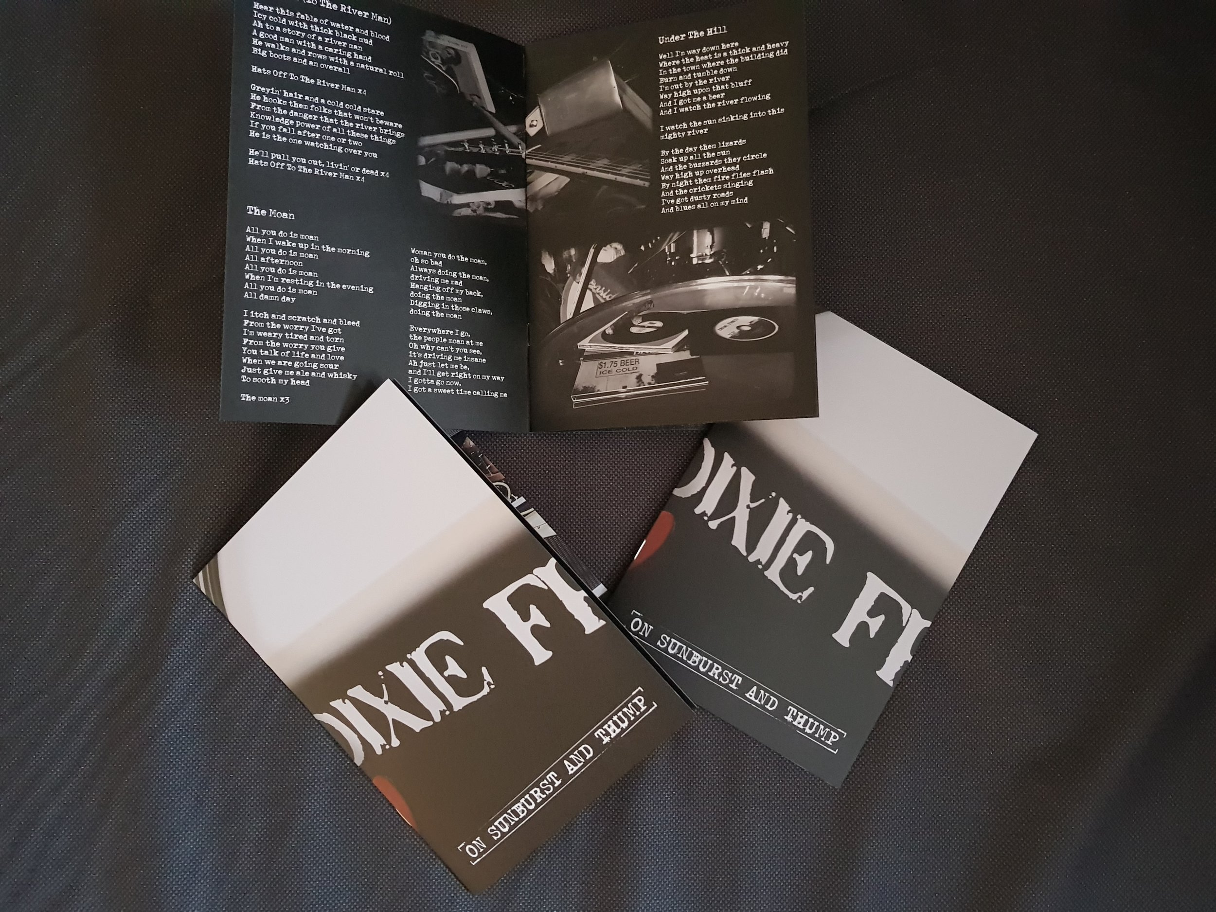A5 12 page lyric booklet