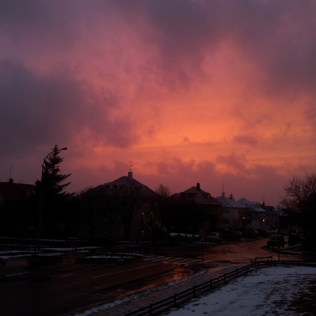 red sky #nofilter