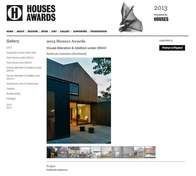 Houses Award 2013