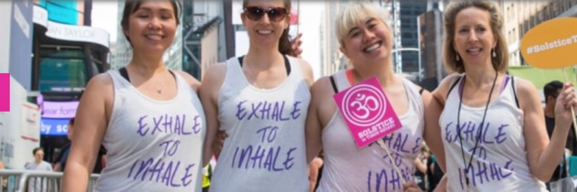 Exhale to Inhale is a charity partner this year for the Summer Solstice Event in Times Square