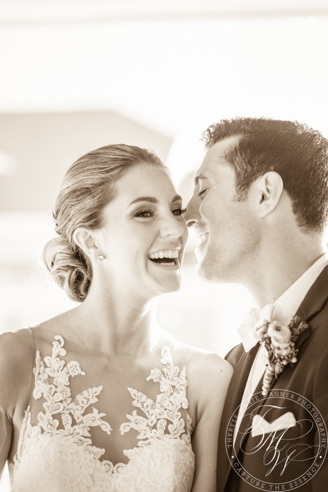 Emotional b&w wedding photo