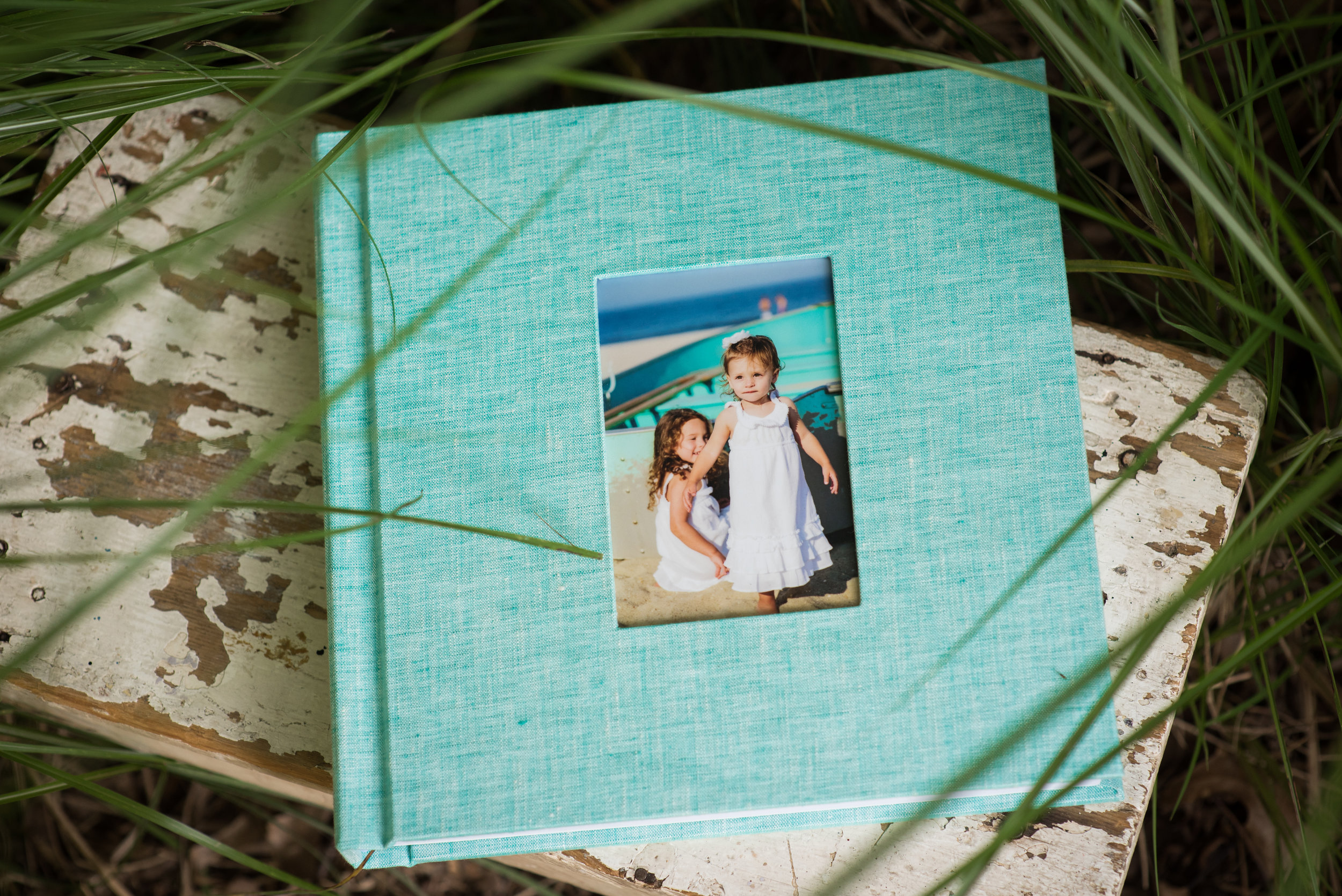 linen photo album; luxe leather photo album