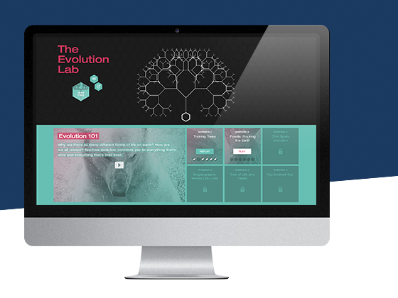 EVOLUTION LAB - PRODUCT DESIGN CASE STUDYA two part web application targeting biology students and lifelong learners. In Deep Treeusers can explore a visualization of a common ancestry dataset containing over 70,000 species. In the Build a Treegame, users can learn about speciation and phylogenetics through puzzle-based gameplay.
