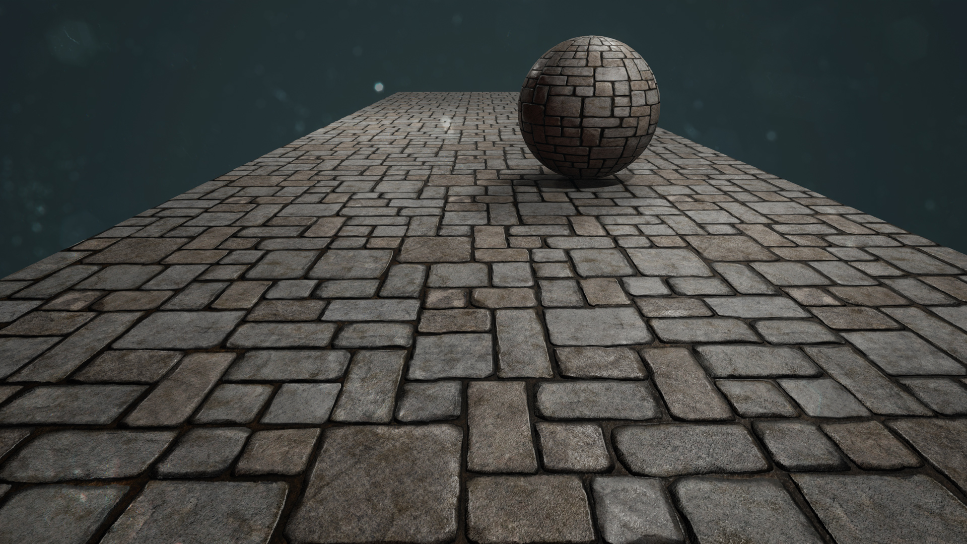 This is the first in what I plan to be a short series of hand sculpted tiling ground & road textures.  It was sculpted in ZBrush, the physically based textures were created in Photoshop, and it was rendered in Unreal Engine 4.