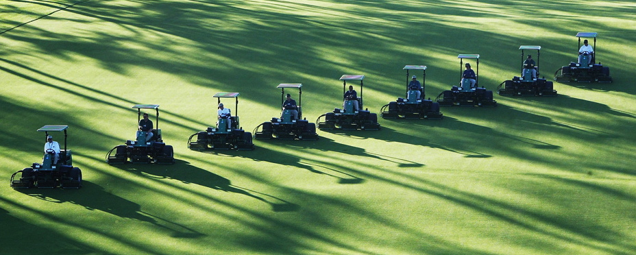 Greenskeeping at Bobby Jones' Augusta National Golf Club