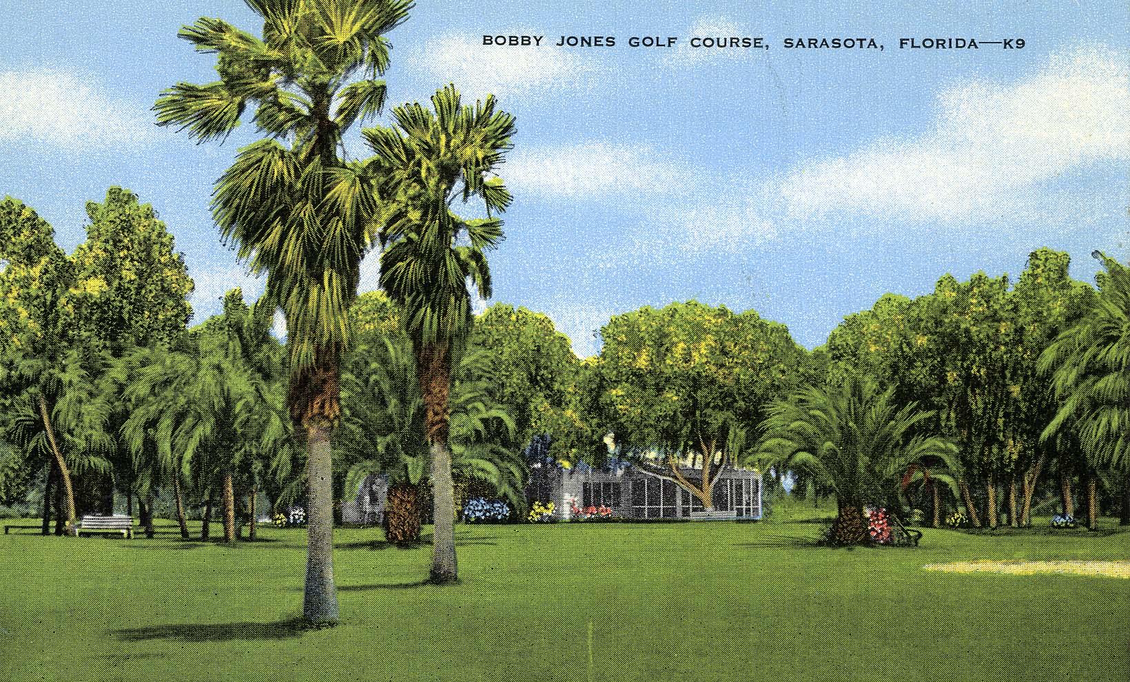 VINTAGE POSTCARD Bobby Jones Golf Club, Sarasota Florida.
