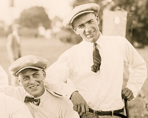 Bobby Jones  and  Leo Diegel . Photograph courtesy of the USGA.