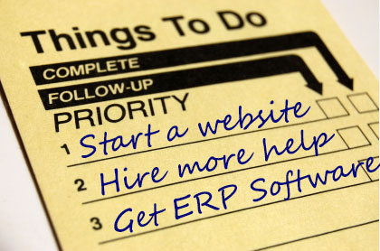 To Do List ERP small business SMB CloudSuite Industrial SyteLine ERP Godlan