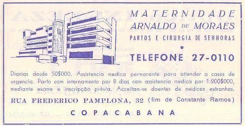 A melhor da sociedade carioca nos anos 1960 nascia na maternidade arnaldo de moraes