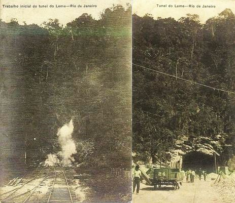 Abertura do Túnel Engenheiro Coelho Cintra 1904
