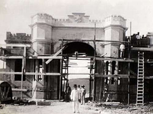 As obras de construção do Forte de Copacabana