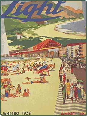 Revista da Light com a praia de Copacabana na capa