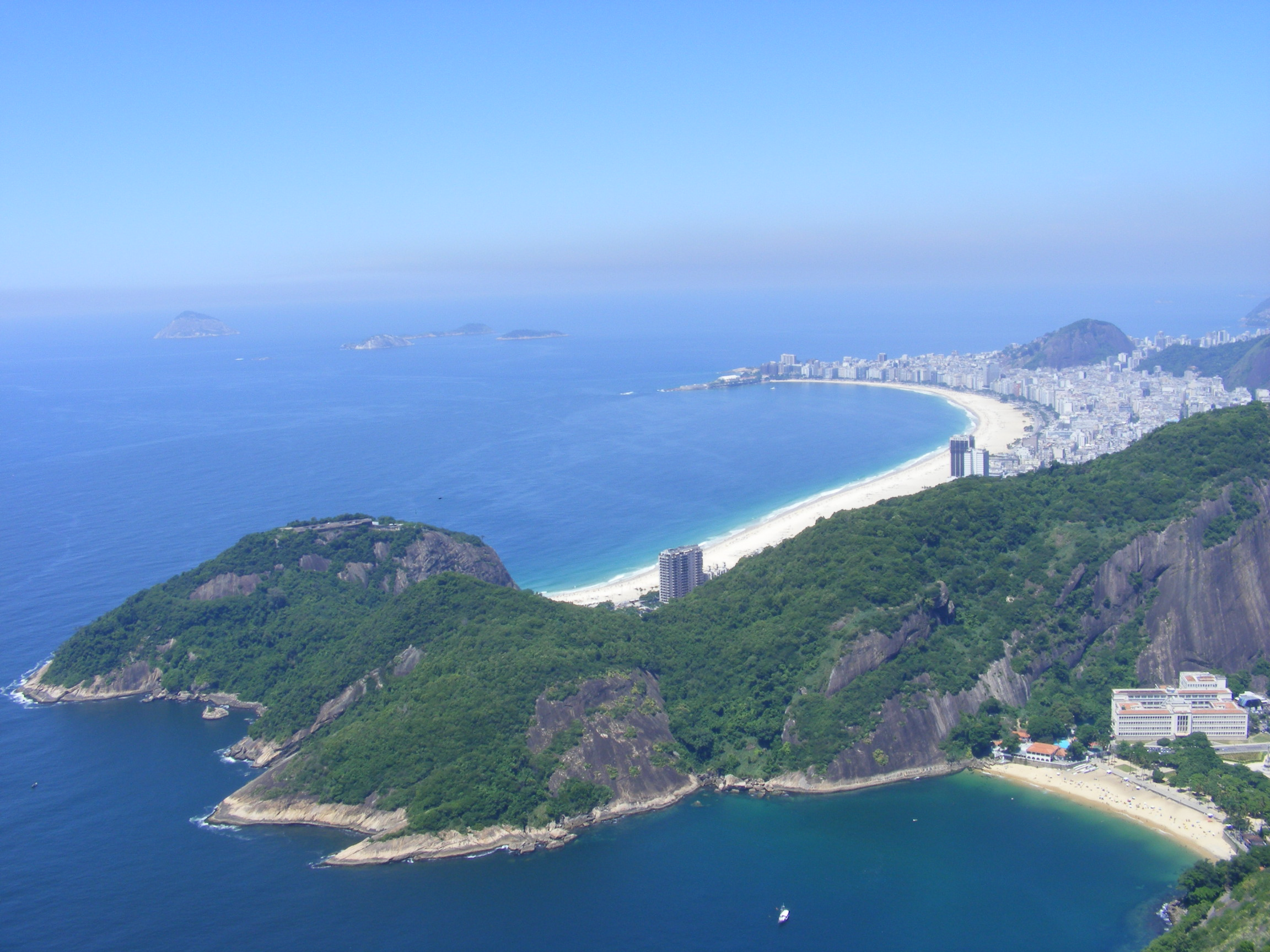 Vista da área da Praia de Copacabana