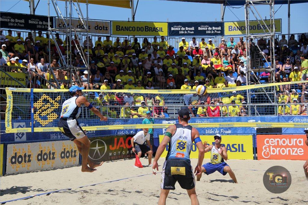 Circuito de vôlei de praia em Copacabana