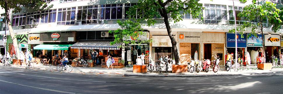 A Galeria River fica na Rua Francisco Otaviano 67