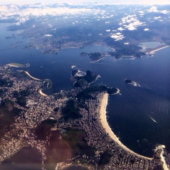 Praia de #Copacabana vista do céu