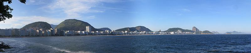 Foto da Praia de Copacabana vista do Forte de Copacabana