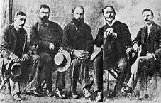 Grupo dos Cinco: Antero de Quental, Eça de Queirós, Guerra Junqueiro, Oliveira Martins e Ramalho Ortigão