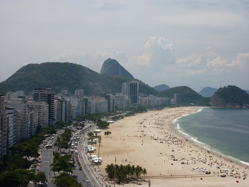 Praia de Copacabana vista de Hotel