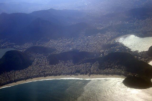 Praia de Copacabana vista do avião