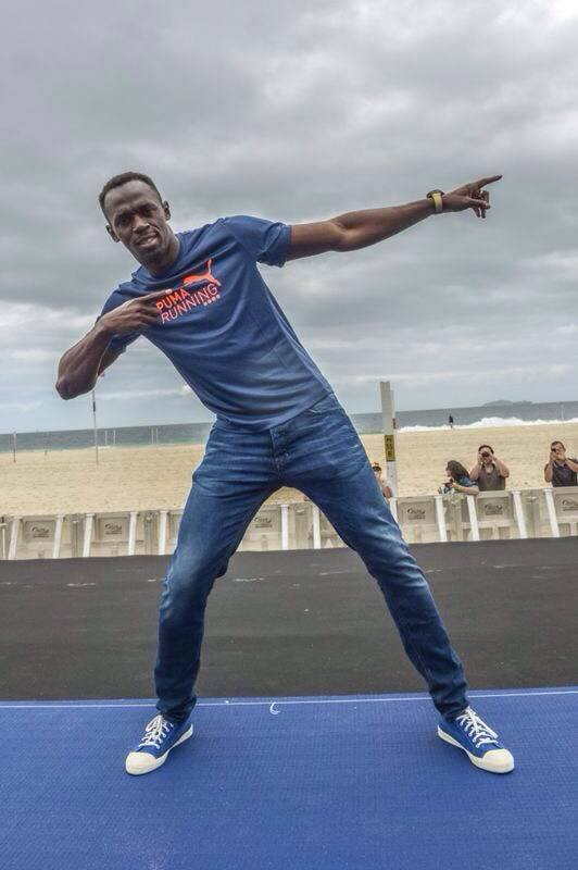 Usain Bolt em Copacabana
