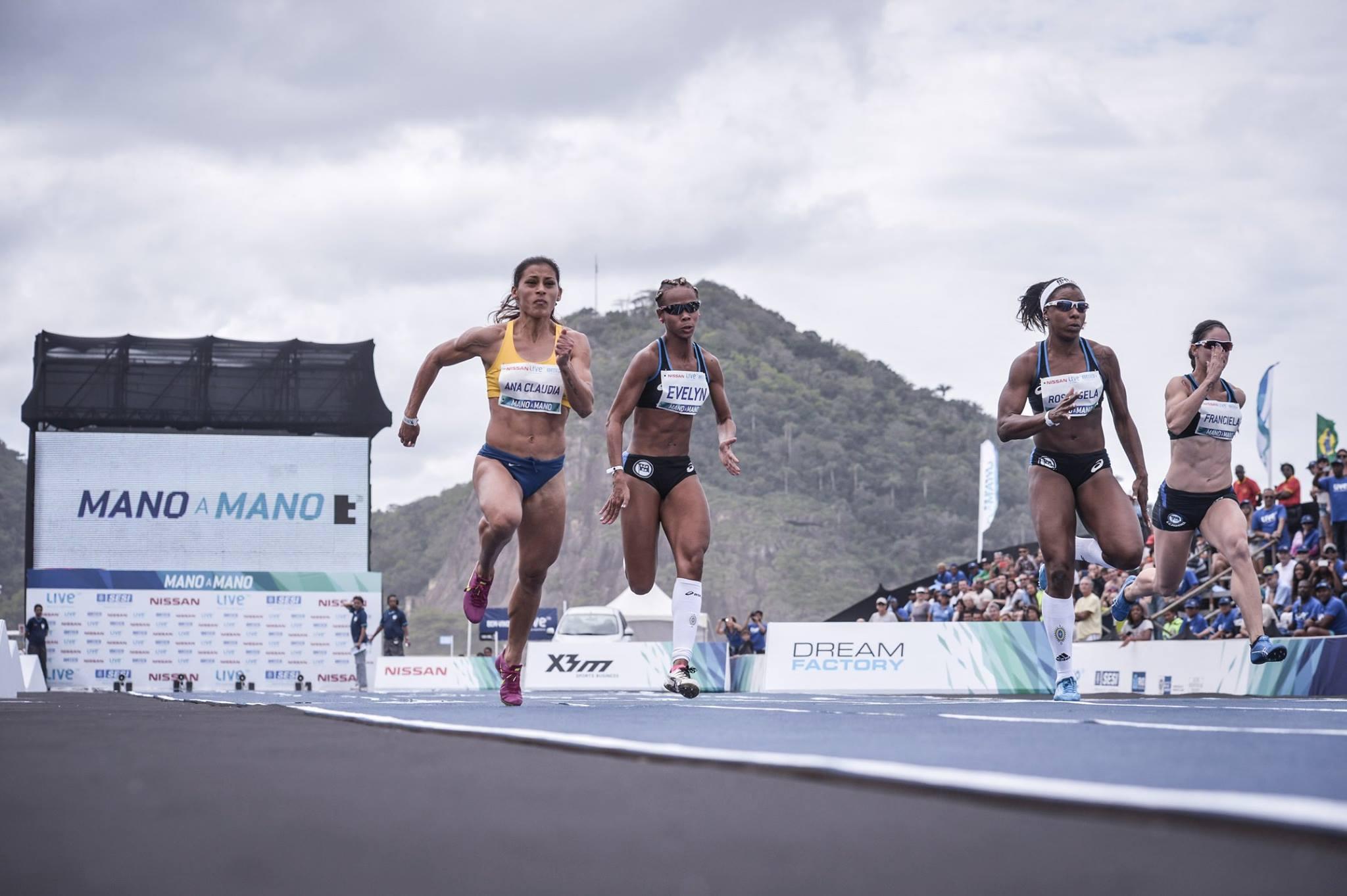 Desafio de atletismo em Copacabana