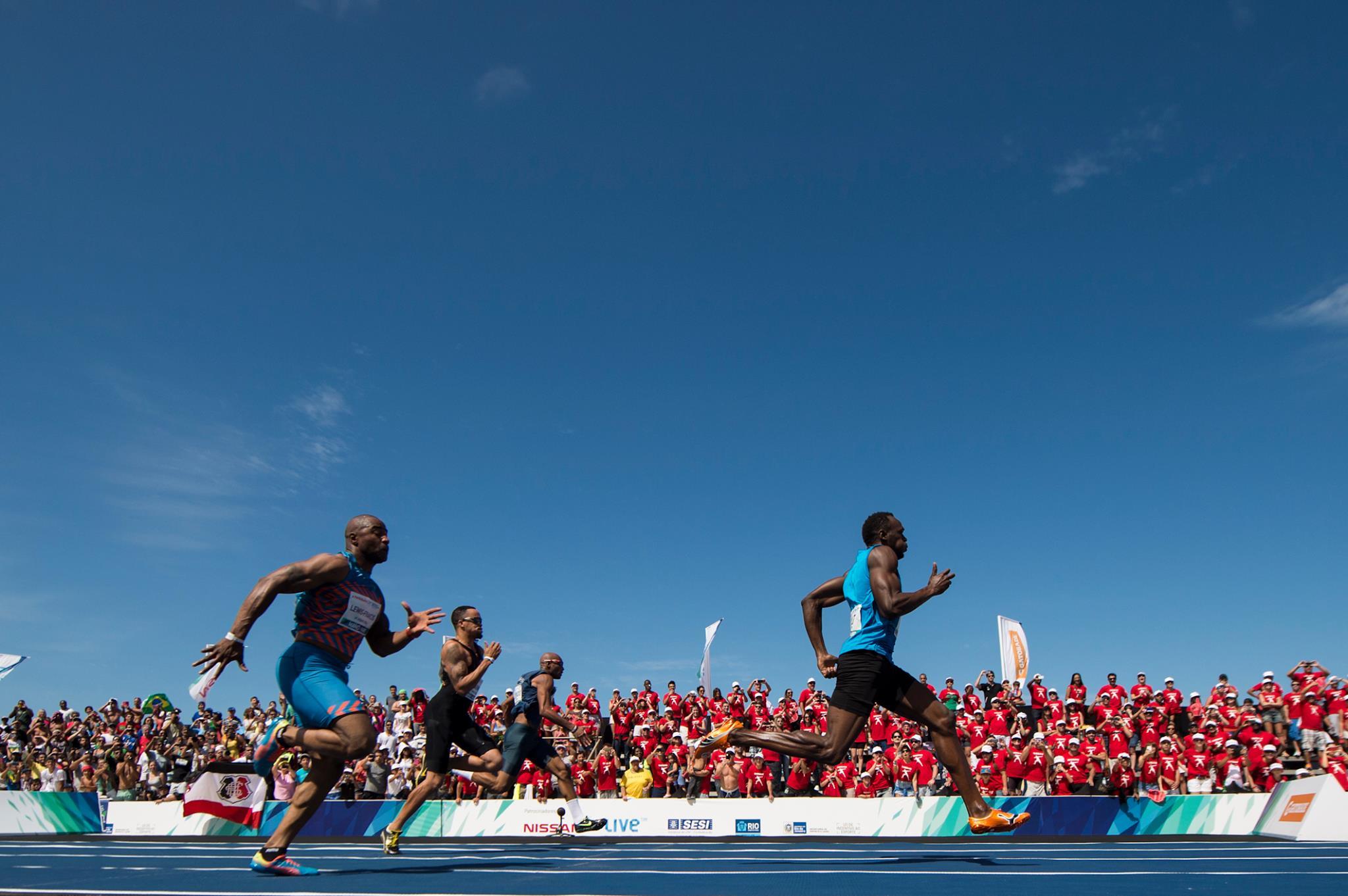 Usain Bolt em Copacabana 2014