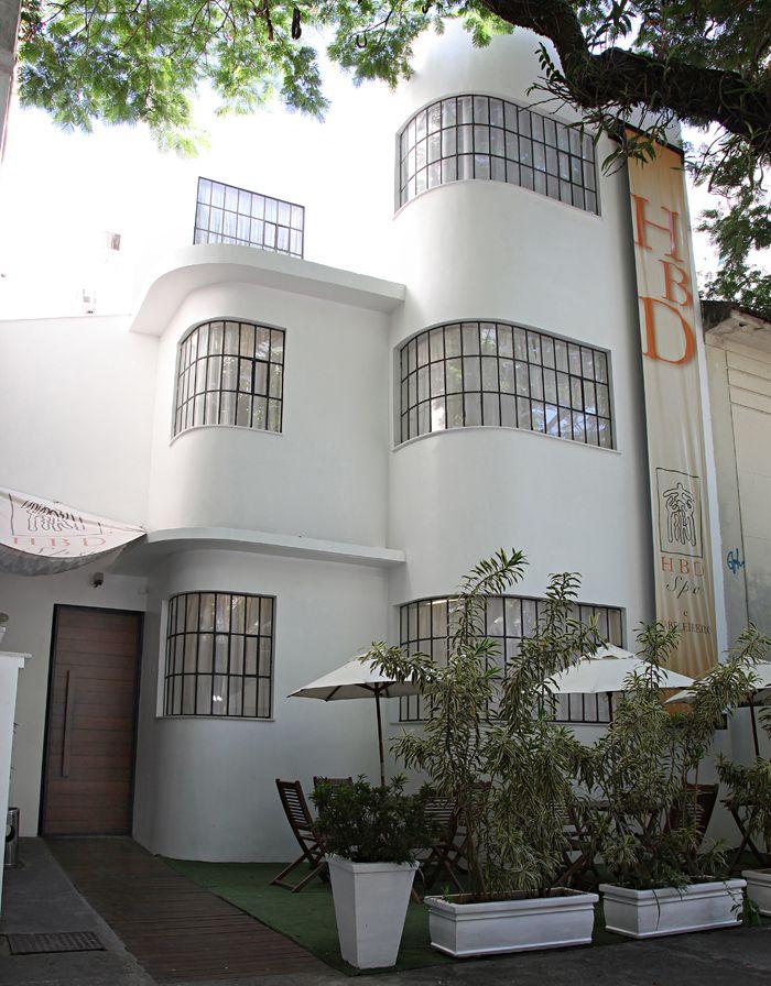 Edifício no estilo Art Decó na Rua Barão de Jaguaribe em Ipanema, Rio de Janeiro