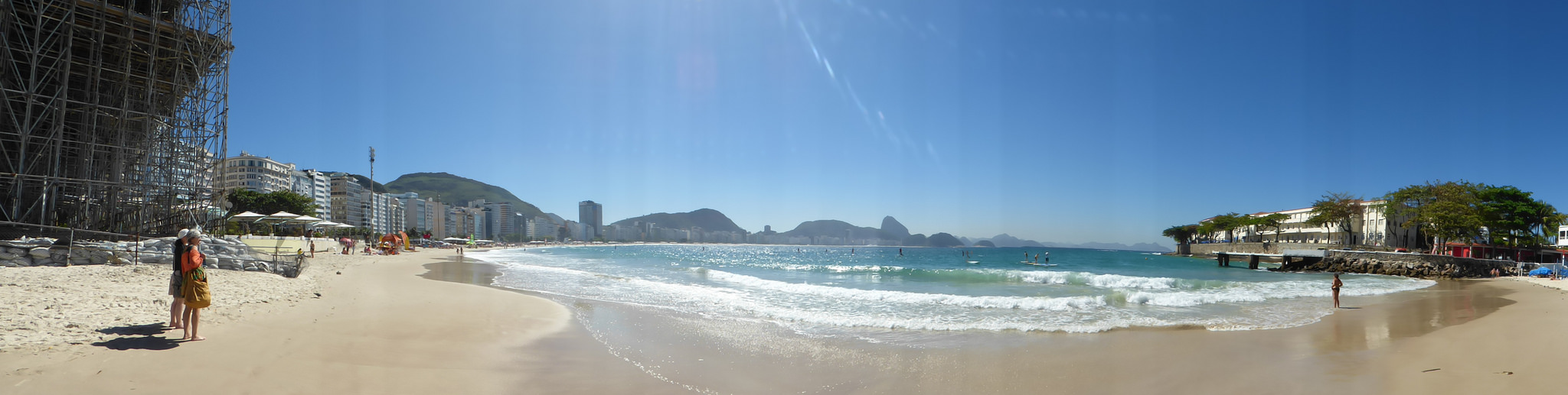 Praia de Copacabana vista do Posto Seis