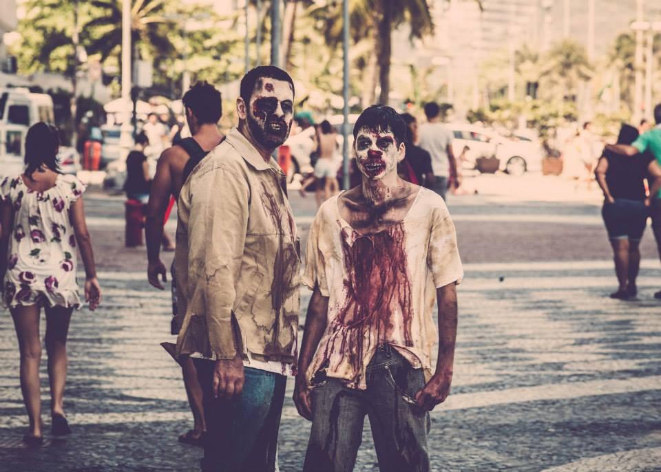 Dupla de zumbis na Zombie Walk 2014