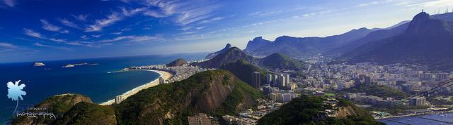 Praia de Copacabana vista do Corcovado