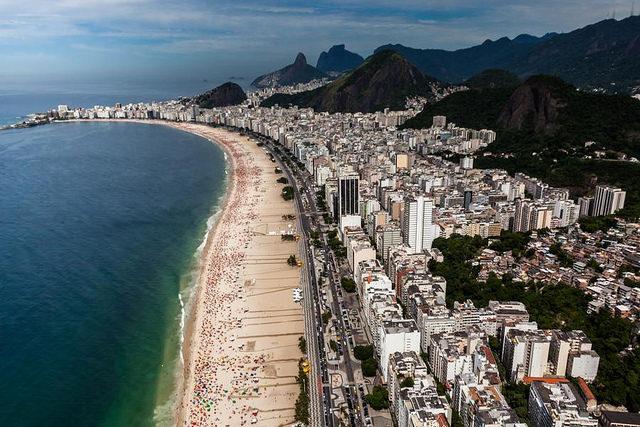 Copacabana do helícoptero
