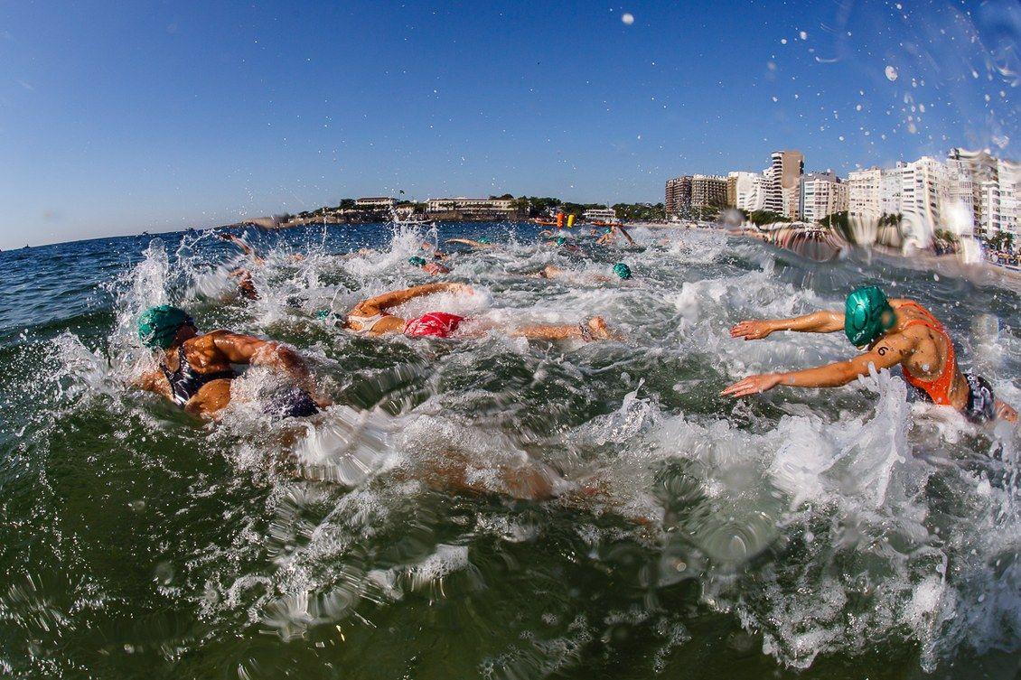 Evento-teste para as Olimpiadas Rio2016 em Copacabana