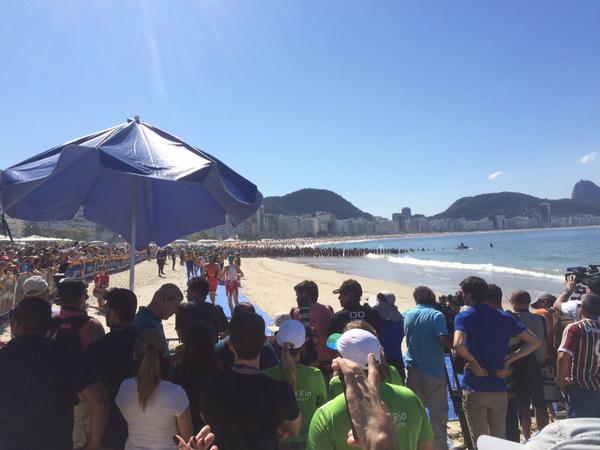 Triathlon em Copacabana