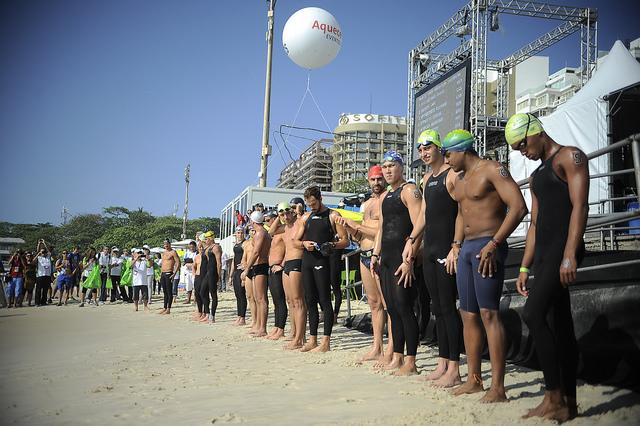 Evento Internacional de Maratona Aquática, AqueceRio, em 22/08/2015