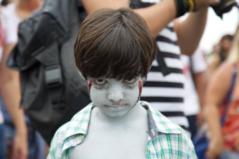 Zombie boy na Zombie walk Copacabana 2015
