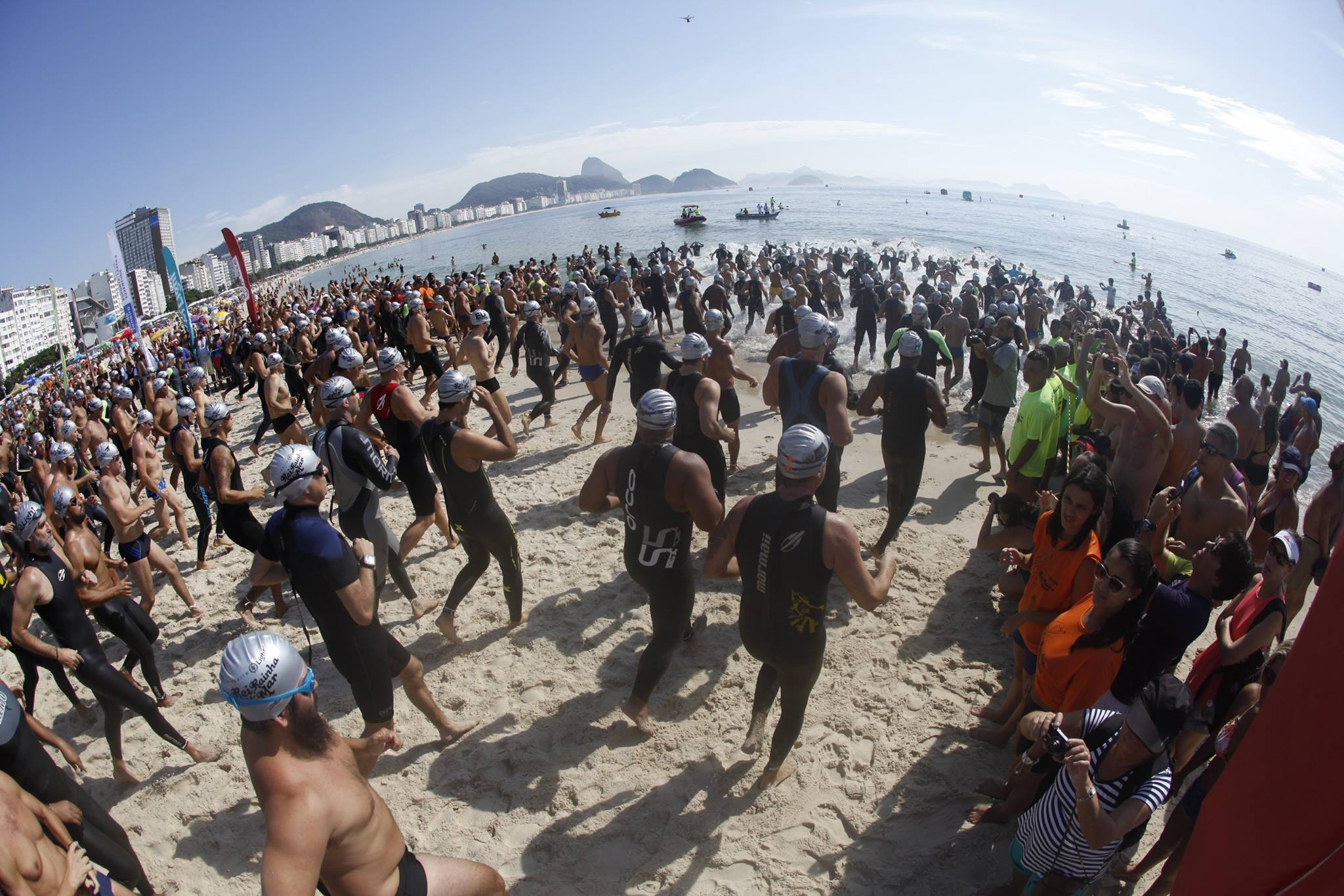 Maratona aquática Rei e Rainha do Mar em Copacabana