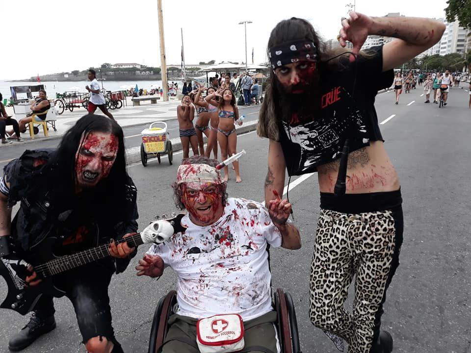 Zumbies Metaleiros na Zombie Walk 2018 em Copacabana