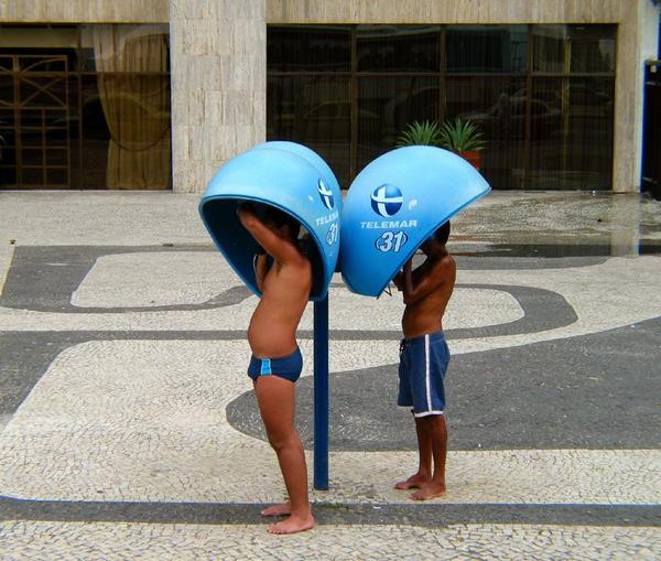 Orelhão em Copacabana