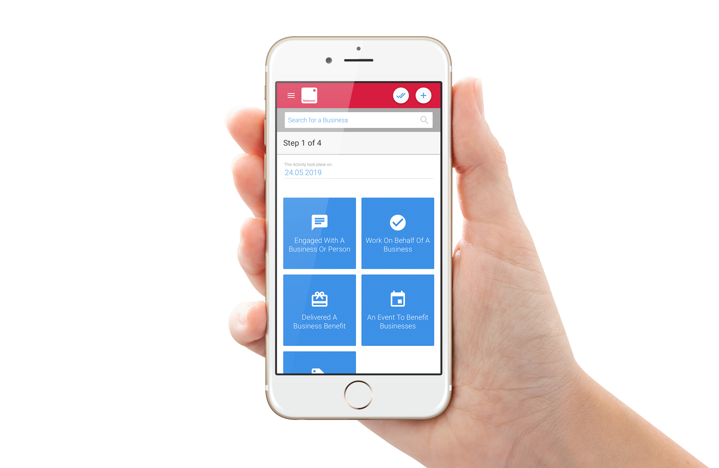 Our mobile Activity Wizard makes it easy for mobile workers to add new records to Solomon.