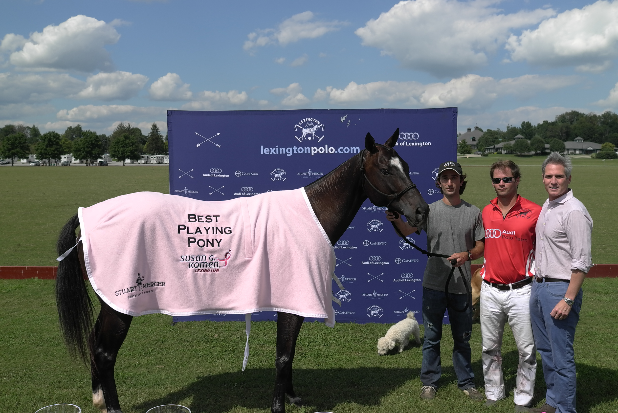 "Best Playing Pony ""Morocha ""owned by Juan Valerdi  Sponsored by Stuart Mercer Gentleman's Shoppe"