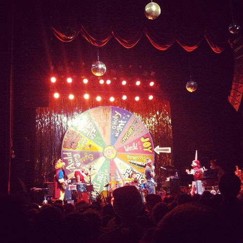 Last year's Sufjan Christmas concert in Athens photo hijacked from the amazing  MORGANGSTER