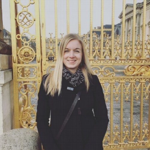 Me at the gates of Versailles Palace, December 2016