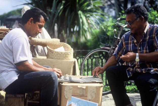 Havana cuba checkers malecon