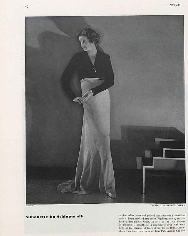 Vogue , November 1, 1931, page 40. source The Vogue Archive