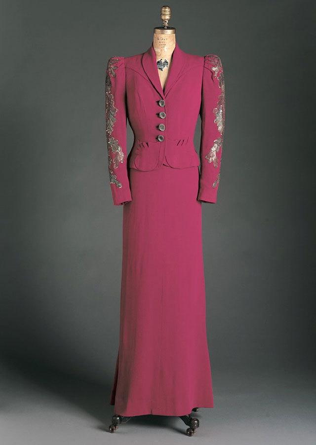 dress and jacket by Elsa Schiaparelli, spring 1938. source Phoenix Art Museum
