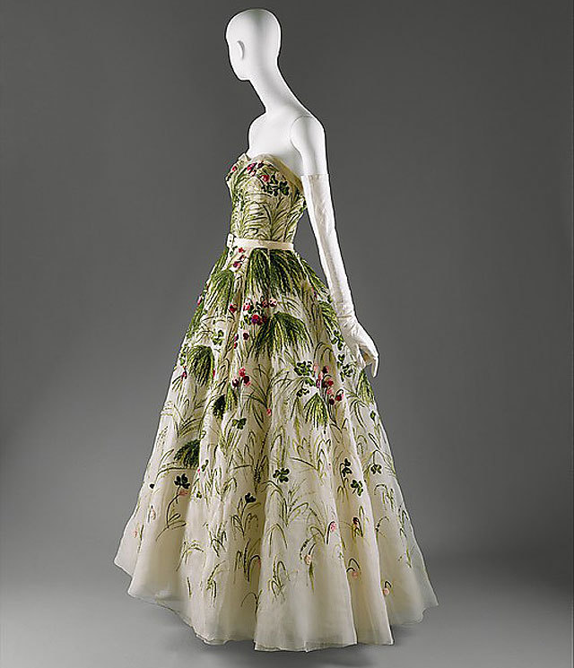 """""""May"""" gown by Christian Dior, spring/summer 1953. source Metropolitan Museum of Art"""