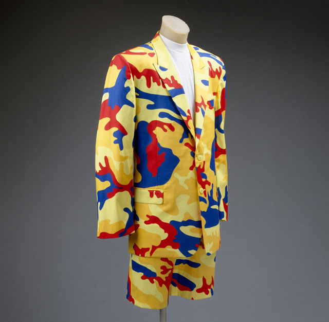 Men's suit by Stephen Sprouse, 1988. from Metropolitan Museum of Art
