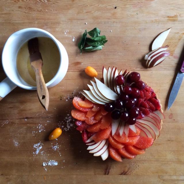 winter fruit tart - Sandra Harris